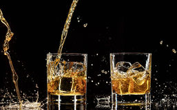 Whiskey drinks royalty free stock photos