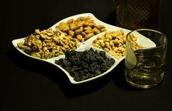 Whiskey ed aperitivi Immagine Stock Libera da Diritti