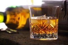 whiskey en verre Photo libre de droits
