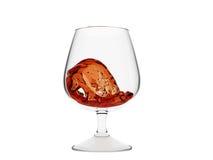 whiskey en verre d'onde Photos stock