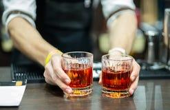 whiskey för exponeringsglas två royaltyfri fotografi