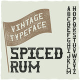 Whiskey fine label font. / vintage typeface for alcohol drinks Royalty Free Stock Photography