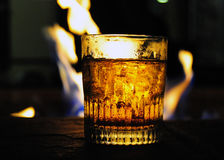 Whiskey by the Fire royalty free stock image