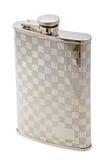 Whiskey flask isolated on white Stock Image