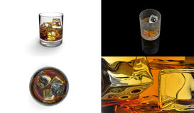 Whiskey four image Royalty Free Stock Image