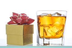 Whiskey and Gift Box Royalty Free Stock Image