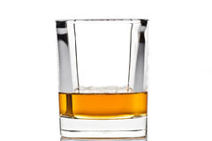 Whiskey in a glass  Royalty Free Stock Images