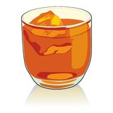Whiskey glass Royalty Free Stock Photos