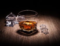 Whiskey in glass Royalty Free Stock Images