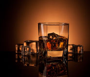 Whiskey in glass Royalty Free Stock Photography