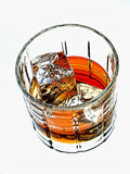 Whiskey  Glass Abstract Royalty Free Stock Images