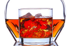 Whiskey Glass and Decanter Royalty Free Stock Photo
