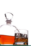 Whiskey Glass and Decanter Stock Image