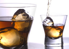 Whiskey glass fussion Stock Image