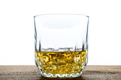 Whiskey glass with ice cubes Royalty Free Stock Photography