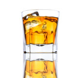 Whiskey Glass with Ice low angle Stock Image