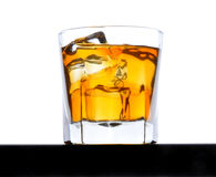Whiskey Glass with Ice low angle Stock Photography