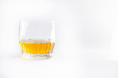 Whiskey. Glass of Whiskey. isolated on white royalty free stock image