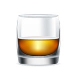 Whiskey glass isolated on white Royalty Free Stock Image