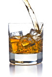 Whiskey in glass Royalty Free Stock Photo