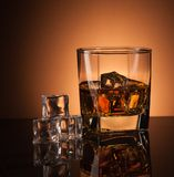 Whiskey in glass Royalty Free Stock Photos
