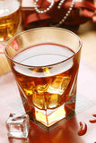 Whiskey in glass tumbler Stock Image