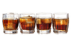 Whiskey glass whit ice Stock Photos