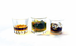 Whiskey glasses Royalty Free Stock Image