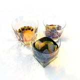 Whiskey glasses Stock Photos