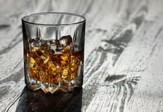 Whiskey in glasses Royalty Free Stock Images