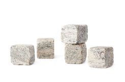 Whiskey granite stones composition Royalty Free Stock Photos