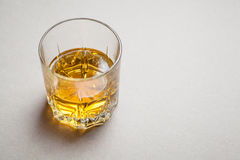 Whiskey on gray Royalty Free Stock Photography