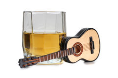 Whiskey and guitar Royalty Free Stock Image