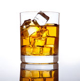 Whiskey and ice. Royalty Free Stock Images