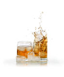 Whiskey With Ice Stock Image