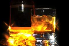 Whiskey with ice Stock Photos