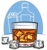 Whiskey and ice Royalty Free Stock Images