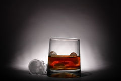 Whiskey with ice alcohol Royalty Free Stock Photos