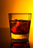 Whiskey with ice ,copy space for your text Royalty Free Stock Photography
