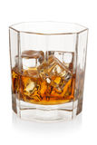 Whiskey with ice cubes. Royalty Free Stock Photos