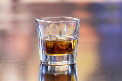 Whiskey with ice Stock Images