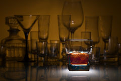 Whiskey with ice Royalty Free Stock Photo