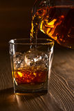 Whiskey with ice Royalty Free Stock Photos