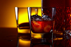 Whiskey with ice Royalty Free Stock Photography