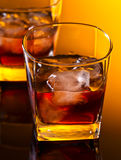Whiskey with ice Royalty Free Stock Image