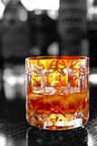 Whiskey with ice selective color Royalty Free Stock Photos