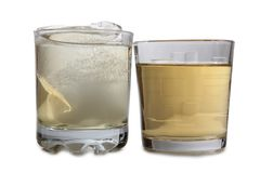 Whiskey and ice three Royalty Free Stock Image