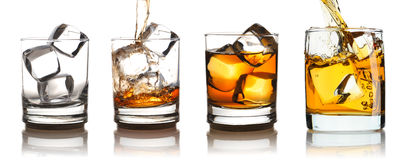 Free Whiskey In Glass With Ice Set Royalty Free Stock Photography - 59503707