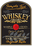 Whiskey label. Label for a bottle of whiskey Stock Photo
