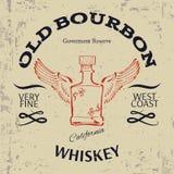 Whiskey Label Design. T-shirt Print. Vector Stock Photos